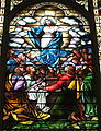 Saint Mary Catholic Church (Dayton, Ohio) - stained glass, the Assumption - detail.JPG
