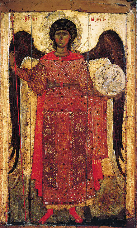 The Archangel Michael (13th c.). Saint Michael (Yaroslavl, 13th c., GTG).jpg