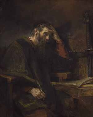 Supersessionism - Paul the Apostle, by Rembrandt Harmensz van Rijn c. 1657