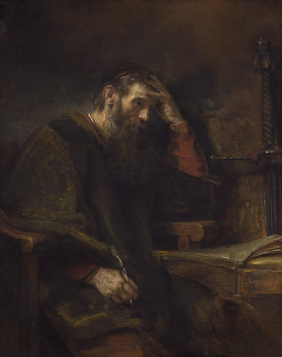 Saint Paul, Rembrandt van Rijn (and Workshop?), c. 1657