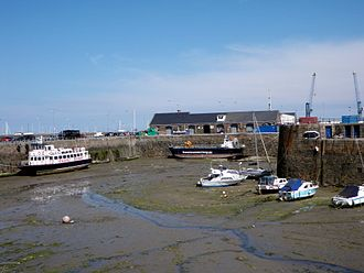 Saint Peter Port Harbour - Low tide view of St Julian's Pier and Cambridge Berth