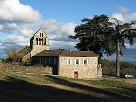 The church in Saint-André-Lachamp