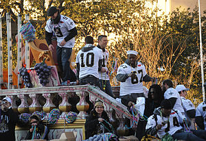 Mark Brunell - Image: Saints Victory Parade 2010