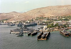 Salamis Naval Base with Fletcher class destroyers 1979.JPEG