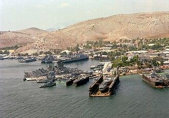 Salamis Naval Base - Salamis Naval Base dry dock facilities (1979)