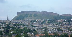 Holyrood Park - Salisbury Crags seen from Blackford Hill