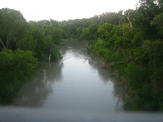 Goliad, Texas - The San Antonio River flows through Goliad.