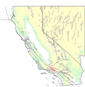 San Gabriel Fault - Map of the San Gabriel Fault zone