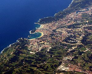 San Sebastián as seen from the air