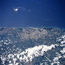San Juan from outer space