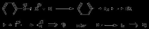 Start der Kettenreaktion mit Kaliumiodid