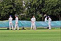 Sandwich Town CC mobile cricket pitch covers at Sandwich, Kent, England 06.jpg