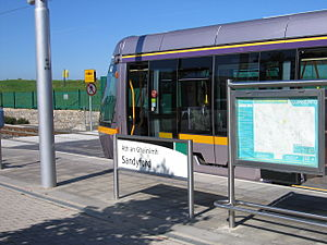 Sandyford - Luas at its Sandyford stop.