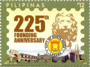 Santa Rosa, Laguna - 2017 stamp of the Philippines dedicated to the 225th anniversary of Santa Rosa