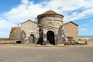 Byzantine Sardinia - Church of Santa Sabina in front of the homonym nuraghe, Silanus