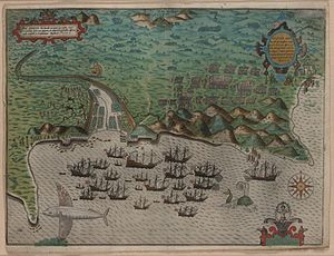 Capture of Santiago (1585) - Image: Santiago, Cape Verde, 1589