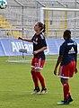 Sara Daebritz beim Aufwaermen BL FCB gg. 1. FC Koeln Muenchen-1.jpg