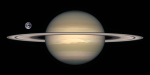 Saturn Earth Comparison2