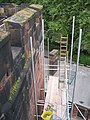 Scaffolding on Chester Castle Wall - geograph.org.uk - 491725.jpg