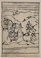 Scenes related to the Soga family - two warriors with swords walking behind retainers leading two horses LCCN2008661138.jpg