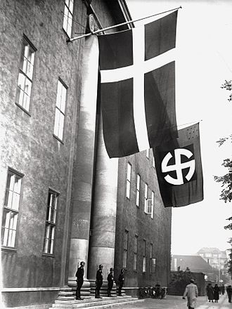 Denmark in World War II - Headquarters of the Schalburg Corps, a Danish SS unit, after 1943. The occupied building is the lodge of the Danish Order of Freemasons located on Blegdamsvej, Copenhagen.