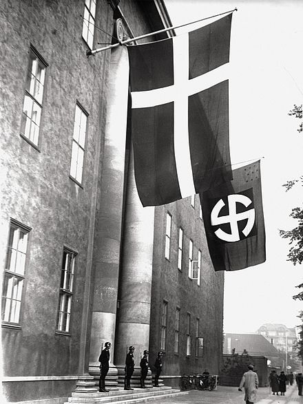 Headquarters of the Schalburg Corps, a Danish SS unit, after 1943. The occupied building is the lodge of the Danish Order of Freemasons located on Blegdamsvej, Copenhagen Schalburgerblegdamsvej.jpg