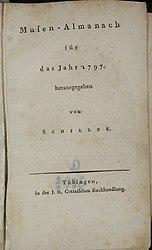 Friedrich Schiller: Musen-Almanach für das Jahr 1797