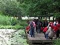 School Party at the pond near the Bridgewater Monument, Ashridge - geograph.org.uk - 1583306.jpg