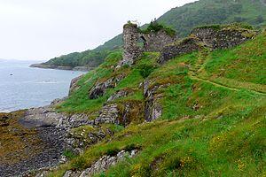 Loch Carron - Strome Castle on the shore of Loch Carron.