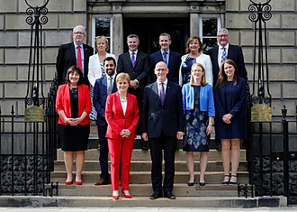 Scottish Government - First Minister Sturgeon's reshuffled cabinet at Bute House, 2018.