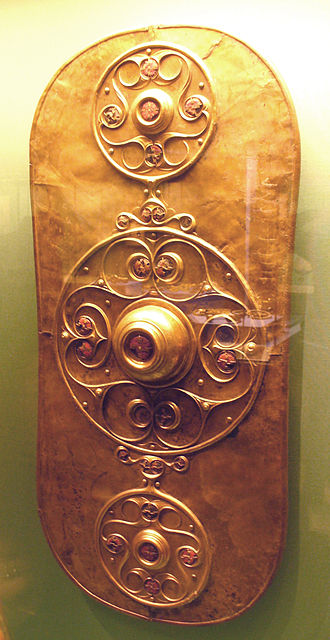 Celtic warfare - The famous Celtic shield found at Battersea likely used for ceremonial purposes.