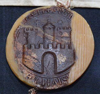 Coat of arms of Hamburg - Image: Seal City of Hamburg 1264