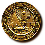 Seal of the Grand Lodge of Italy of the A.F.& A.M.