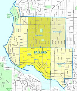 Seattle - Ballard map