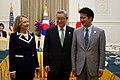 Secretary Clinton with Korean Foreign Minister Kim and Japanese Foreign Minister Gemba (7556535412).jpg