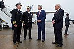 Secretary Kerry Speaks With Rear Admiral Rick Williamson Upon His Arrival at Naval Station Norfolk (22908273222).jpg