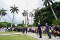 Secretary Kerry and Chargé DeLaurentis Watch Marines Raise Flag at Ambassador's Residence (20394919199).jpg