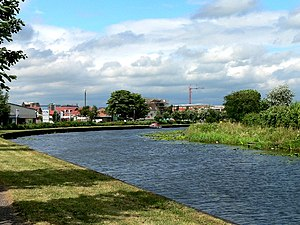 Selby Canal - The canal approaching the River Ouse
