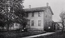 Zdjęcie domu misyjnego Seneca, ok.  1912.