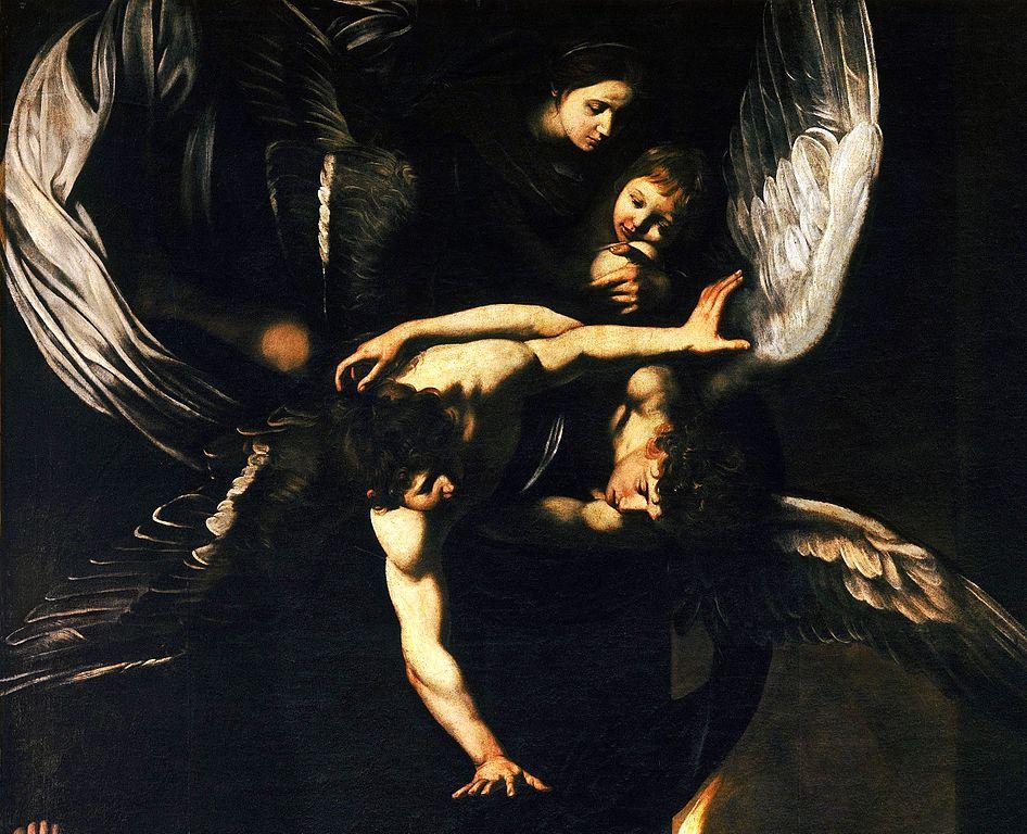 """""""Madonna col Bambino e angeli"""", église Pio Monte della Misericordia à Naples - Tableau de Caravaggio"""