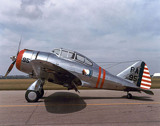 Seversky P-35 - P-35 (36-404) marked as P-35A in the USAAC at the National Museum of the USAF