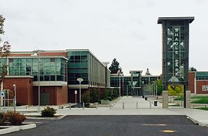 Shadle Park High School - Shadle Park HS, north entry