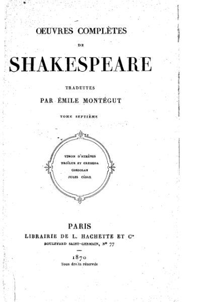 File:Shakespeare - Œuvres complètes, traduction Montégut, Hachette, 1870, tome 7.djvu