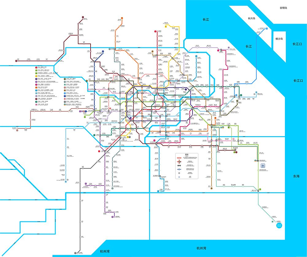 Printable Shanghai Subway Map.Shanghai Subway Line In 2020 All The Way To Jiangsu Chongming