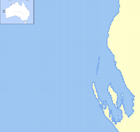 HMAS Sydney (D48) is located in Shark Bay