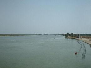 伊拉克 巴士拉 附近的阿拉伯河