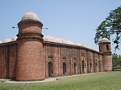 The historic ساٹھ گنبدی مسجد has become the symbol of Bagerhat District