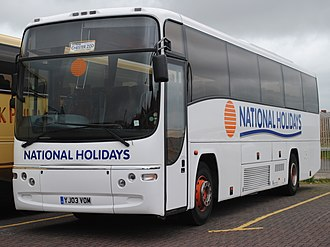 Shearings - Plaxton Paragon bodied Volvo B12M in Blackpool in June 2013 in National Holidays livery