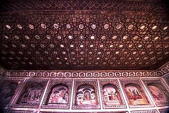 Haveli of Nau Nihal Singh - Image: Sheesh Mahal on the rooftop of Haveli of Nau Nihal Singh 4