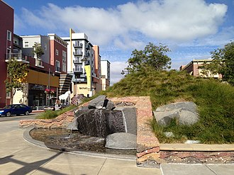 Emeryville Shellmound - The Emeryville Shellmound Memorial at the Bay Street Shopping Center